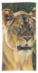 Her - Lioness Beach Sheet by Lori Brackett