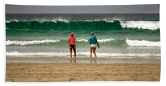 Beach Towel featuring the photograph Here Comes The Big One by Terri Waters