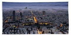Here Comes The Fog  Beach Towel by Ron Shoshani