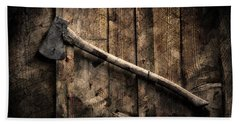 Beach Towel featuring the photograph Wood Cutter by Aaron Berg