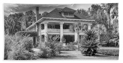 Beach Towel featuring the photograph Herlong Mansion by Howard Salmon