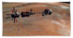 Hermes1 Orbiting Mars Beach Towel