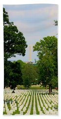 Heroes And A Monument Beach Sheet by Patti Whitten