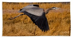 Beach Towel featuring the photograph Heron  #5811 by J L Woody Wooden