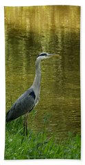 Heron Statue Beach Towel