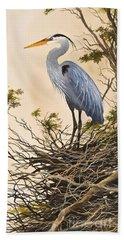 Herons Secluded Home Beach Towel