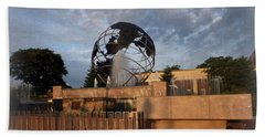 Beach Towel featuring the photograph He's Got The Whole World In His Hands by Kay Novy