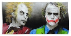 Health Ledger - ' Hey Why So Serious? ' Beach Sheet by Christian Chapman Art