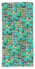 Hibiscus Blue Water Beach Sheet