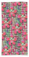 Hibiscus Pink Water Beach Towel