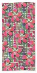 Hibiscus Pink Water Beach Sheet