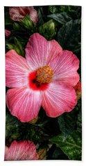 Hibiscus Sunset Beach Towel