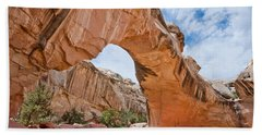 Beach Sheet featuring the photograph Hickman Bridge Natural Arch by Jeff Goulden