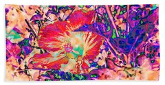 Hiding Hibiscus Beach Towel