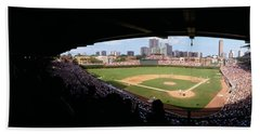 High Angle View Of A Baseball Stadium Beach Sheet by Panoramic Images