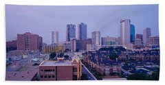 High Angle View Of A City, Fort Worth Beach Towel