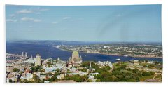 High Angle View Of A Cityscape, Chateau Beach Towel
