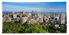 High Angle View Of A Cityscape, Parc Beach Towel