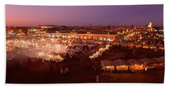 High Angle View Of A Market Lit Beach Towel