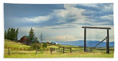 High Country Farm Beach Sheet by Theresa Tahara
