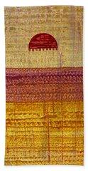 High Desert Horizon Original Painting Beach Towel by Sol Luckman