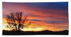 High Desert Sunset Beach Sheet by Kevin Desrosiers