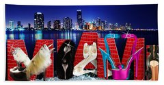 High Heels Miami Beach Towel