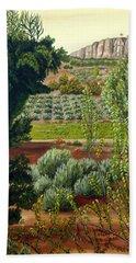 High Mountain Olive Trees  Beach Towel