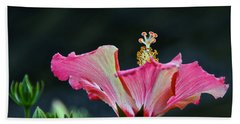 High Speed Hibiscus Flower Beach Towel