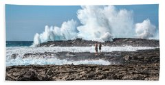 In Over Their Heads Beach Towel by Denise Bird
