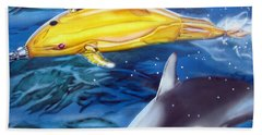 High Tech Dolphins Beach Towel