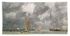 High Tide At Trouville Beach Towel