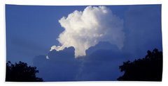 High Towering Clouds Beach Towel by Verana Stark