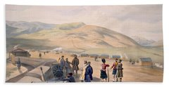 Highland Brigade Camp, Plate From The Beach Towel
