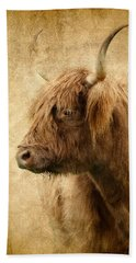 Highland Bull Beach Sheet by Athena Mckinzie