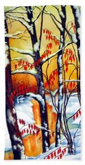Highland Creek Sunset 2  Beach Towel by Inese Poga