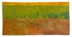 Beach Towel featuring the painting Highway Series - Soil by Michelle Calkins