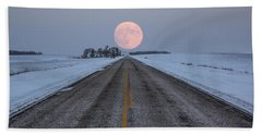 Highway To The Moon Beach Sheet