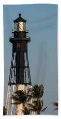 Hillsboro Inlet Lighthouse In The Evening Beach Sheet