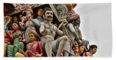 Hindu Gods And Goddesses At Temple Beach Towel