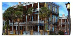 Historic Charleston Mansion Beach Towel