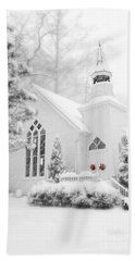 Beach Towel featuring the photograph White Christmas In Oella Maryland Usa by Vizual Studio