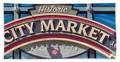 Historic City Market Sign  Beach Towel