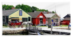 Historic Mystic Seaport Beach Sheet by Dora Sofia Caputo Photographic Art and Design