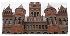 Beach Sheet featuring the photograph Historic Old Red Courthouse Dallas #1 by Robert ONeil