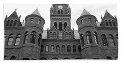 Beach Sheet featuring the photograph Historic Old Red Courthouse Dallas #2 by Robert ONeil