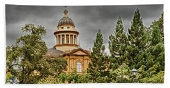Beach Sheet featuring the photograph Historic Placer County Courthouse by Jim Thompson