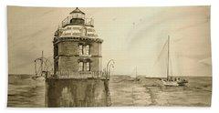 Historic Sandy Point Lighthouse  Beach Towel