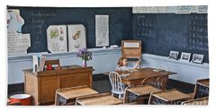 Historic School Classroom Art Prints Beach Towel