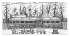 Historic Village Diner Beach Towel